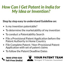 how can i get patent in india for my idea or invention your