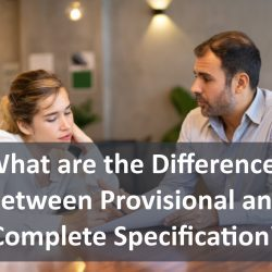 What are the Differences Between Provisional and Complete Specification